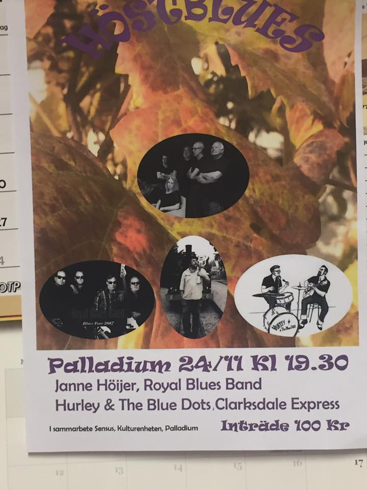 Värmande höstblues 24e november på Palladium.