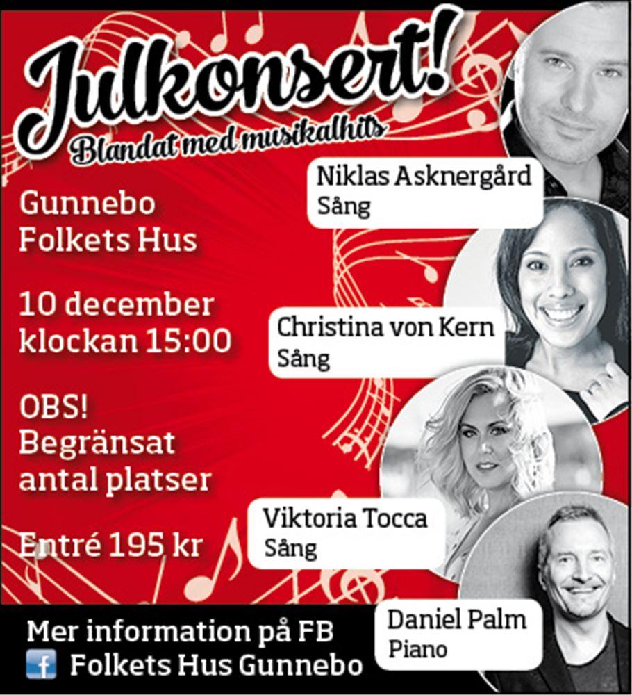 Missa inte vacker och stämningsfull Julkonsert 10 december.