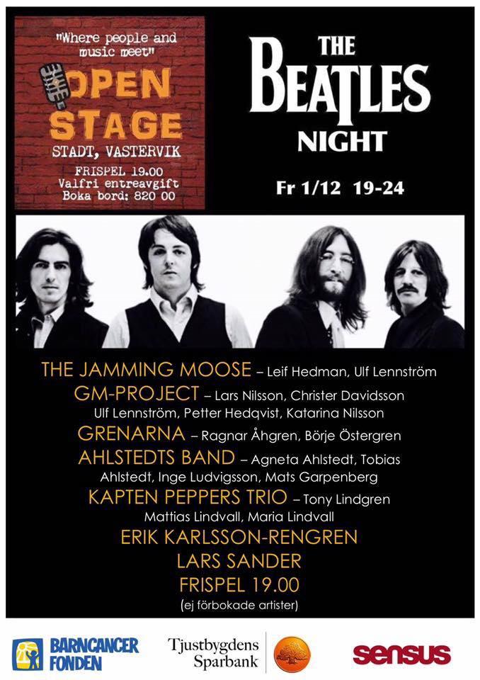 Nästa Open Stage 1 december, the Beatlestema.